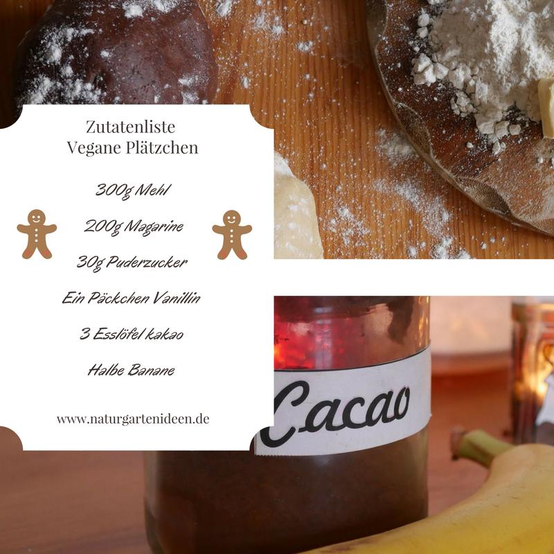 Mürbeteig vegane Plätzchen Kakao Banane