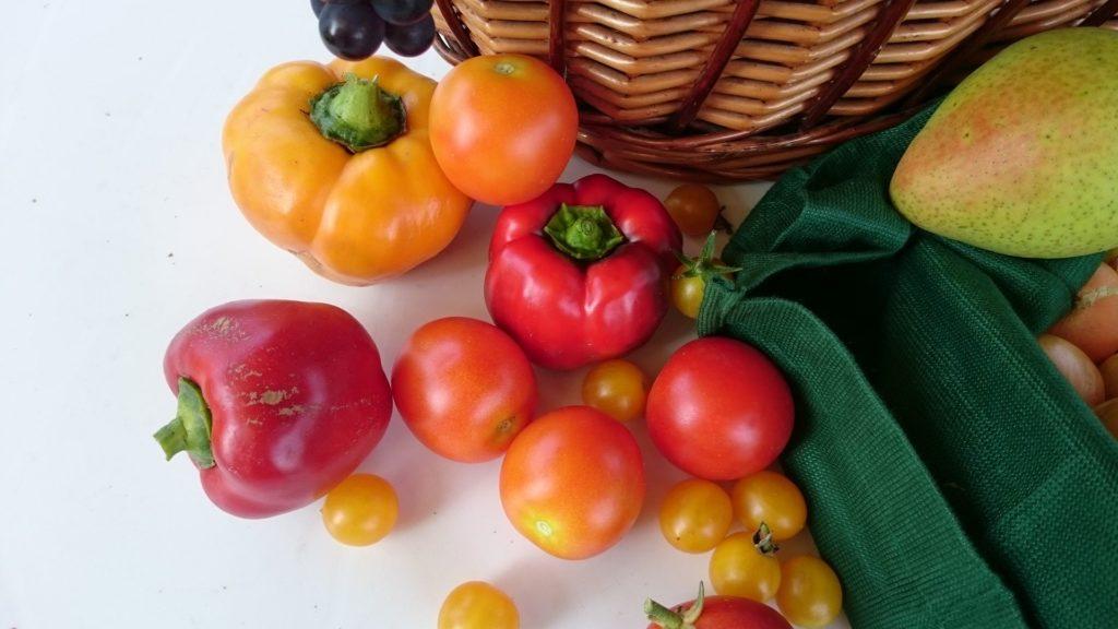 Ernte Gemüsepaprika Reife Paprika