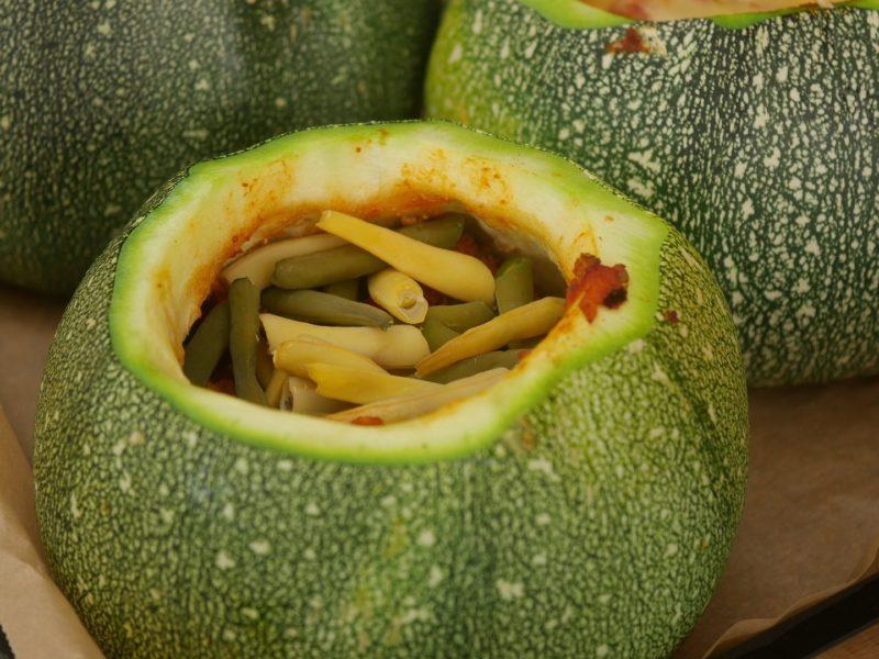 Gartenjahr 2018 Gartensaison 2018 Garteneinblick Gartenrundgang Gartenerlebnisse Gartenmomente gefüllte Zucchini